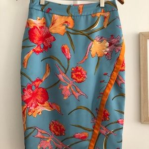 Floral Silk Skirt from Anthropologie